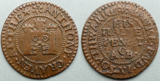 Bank End, Anthony Craven halfpenny token